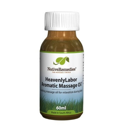 Native Remedies HeavenlyLabor Aromatic Massage Oil to Relieve Tension and Create Pleasant Birthing Environment, 60ml