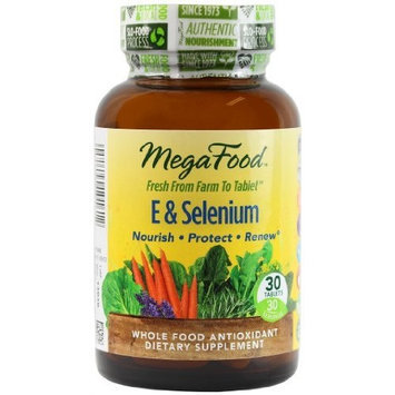 Mega Food MegaFood E & Selenium Tablets, 30 Count (Premium Packaging)
