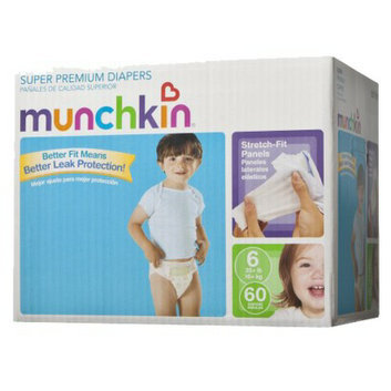 Munchkin Super Premium Diapers Box Pack - Size 6 (60 Count)