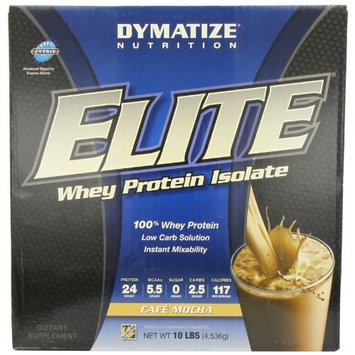 Dymatize Nutrition Elite Whey Protein Powder, Cafe Mocha, 5.04 Pound