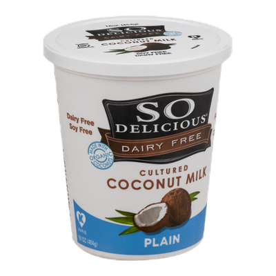 So Delicious Dairy Free Cultured Coconut Milk Plain