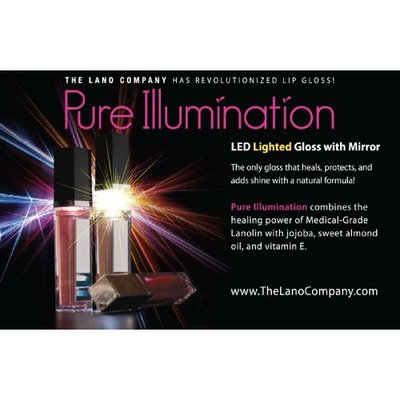 Pure Illumination The Lano Company Light Up Push Button, Wine Berry, 0.3 Fluid Ounce