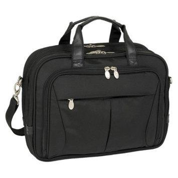 Mcklein R Series Pearson Nylon Expandable Double Compartment Briefcase