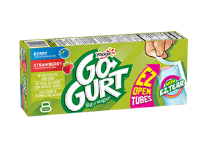 GO-GURT® Strawberry/Berry Portable Low Fat Yogurt Variety Pack