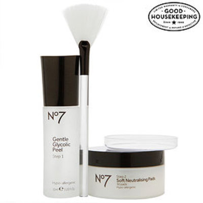 Boots No7 Advanced Renewal Anti-Ageing Glycolic Peel Kit, 1 ea
