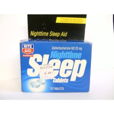 Rite Aid Nighttime Sleep Tablets 72 Count