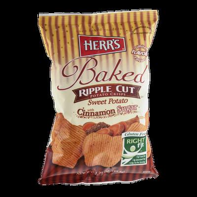 Herr's® Baked Ripple Cut Potato Crisps Sweet Potato With Cinnamon Sugar