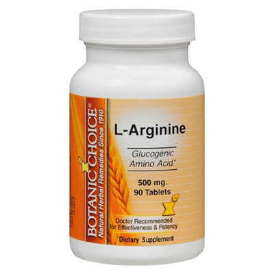 Botanic Choice L-Arginine 500 mg Dietary Supplement Tablets