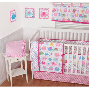 Sumersault Elephant Parade 10-Piece Nursery in a Bag Crib Bedding Set with Bumper