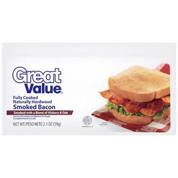 Great Value: Smoked Bacon, 2.1 Oz