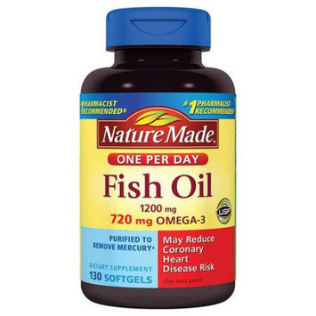 Pharmavite Llc Nature Made Fish Oil Dietary Supplement Softgels, 1200mg, 130 count