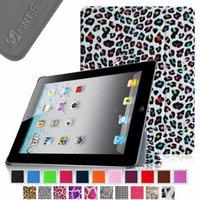Fintie SmartShell Case for Apple iPad 4th Generation with Retina Display, iPad 3 & iPad 2, Leopard Rainbow