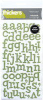 American Crafts GT42892 Thickers Chipboard Glitter Alphabet Stickers 5.625x11