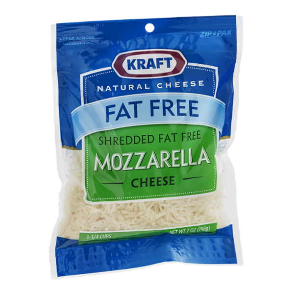 Kraft Mozzarella Cheese Shredded Fat Free