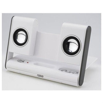 Naxa NAS-3002 Portable Foldable Speaker System for MP3 iPod iPhone (WHT)