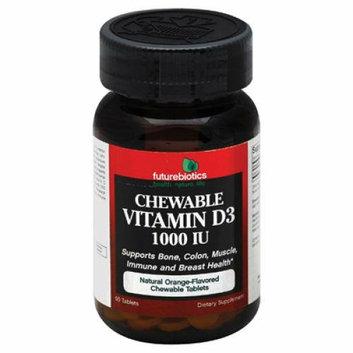 FutureBiotics Vitamin D3 1000 IU Chewable 90 Tablets