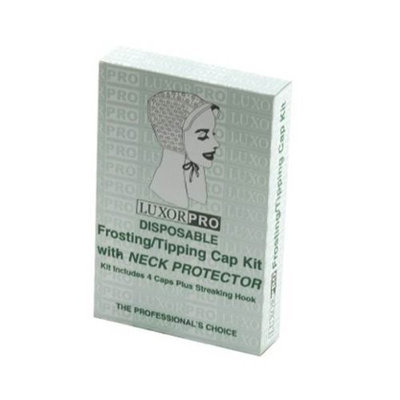 Luxor Professional Luxor Pro Disposable Frosting/Tipping Cap Kit with Neck Protector Model No. 2474NP