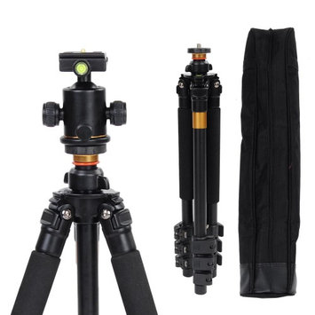 Yescomusa Oem Portable Aluminium 62 Adjustable Camera Tripod Stand w/ Ball Head Travel Case