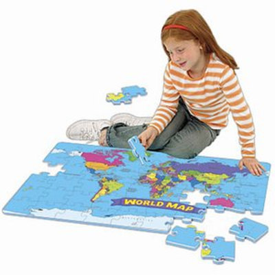 Educational Insights World Foam Map Puzzles