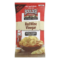 Boulder Canyon Chip Cut Red Wine Vinegar 6.5 Oz - Case of 12