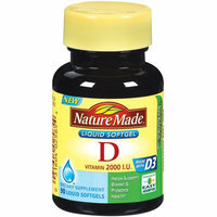 Nature Made : Vitamin D 2000 I.U. Liquid Softgels Dietary Supplement