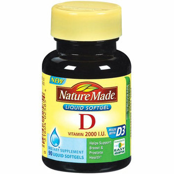 Nature Made : Vitamin D 2000 I.U. Liquid Softgels Dietary Supplement