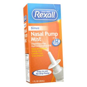 Rexall Sinus Nasal Pump Mist, 1 oz