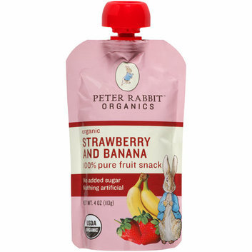 Peter Rabbit Organics Strawberry and Banana 100% Pure Fruit Snack Baby Food