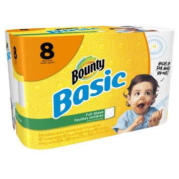 Procter & Gamble Company Basic Paper Towels, Prints, 1-Ply, 8 rolls