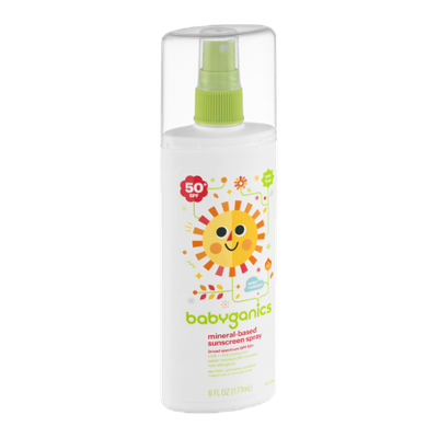 Babyganics Tear Free Mineral-Based Sunscreen Spray 50+ SPF