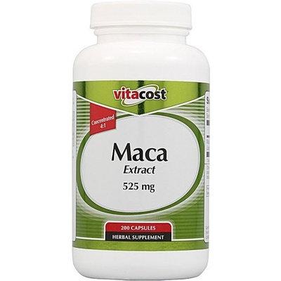 Vitacost Brand Vitacost Maca Extract -- 525 mg - 200 Capsules