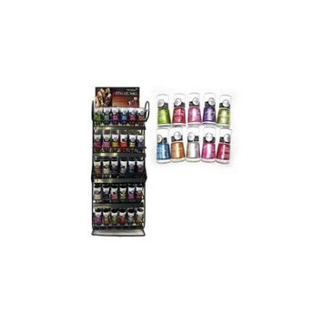 Dependable Storage Delivery 47100 180 Pc Metallic Nail Polish Hot New Styl Free Counter Top Display Rack Case of 180