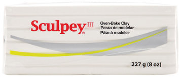 Sculpey III Polymer Clay 8 Oz -White
