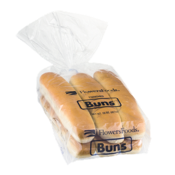 Flowers Foods Enriched Buns - 6 CT