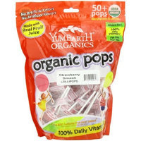 Yummyearth YumEarth Organic Strawberry Smash Lollipops, 12.3 Ounce Bag (Pack of 4)