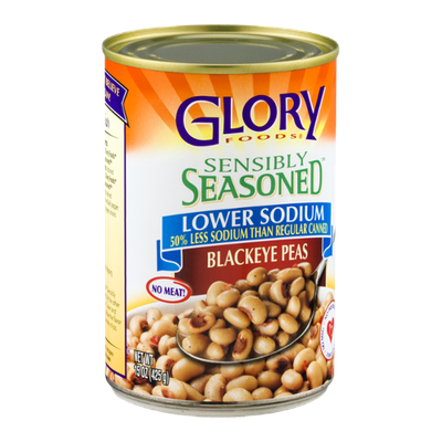 Glory Foods Sensibly Seasoned Blackeye Peas Lower Sodium