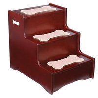 Pet Studio MDF A Step Above Pet Stairs, Mahogany