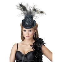 Seasons Women's Feathered Mini Top Hat - Black/Green