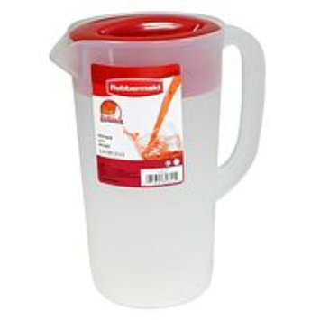 Rubbermaid 1777154 2-1/4 Quart Covered Pitcher, Clear