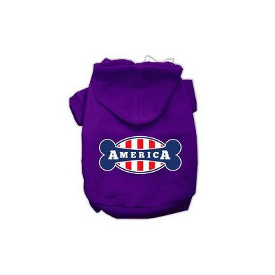 Mirage Pet Products Bonely in America Screen Print Pet Hoodies Purple Size Sm (10)