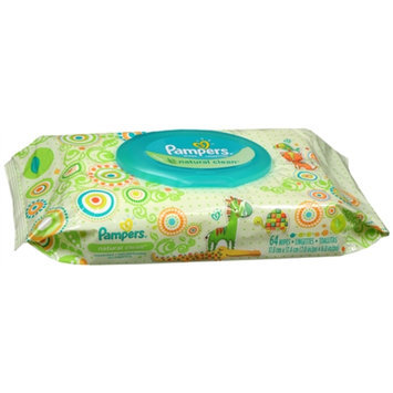 Pampers Natural Clean Wipes Travel Pack, 64 ea