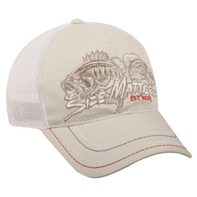 Outdoor Cap Company Size Matters Fishing White Mesh Back Hat