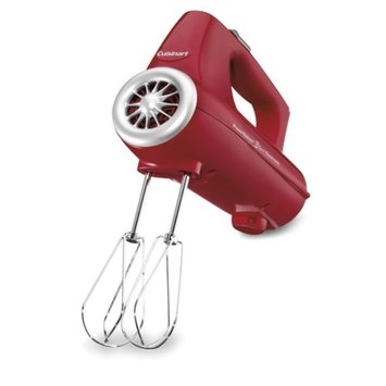Cuisinart CHM3R Hand Blender Red Electric 3-Speed Each
