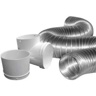 Dundas Jafine MFX48D2DZW Duct Dryer Hose Kit-4