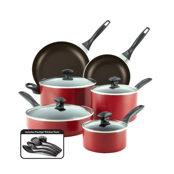 Meyer Corporation Us-farberware Division Farberware 14-pc. Red Dishwasher Safe Nonstick Cookware Set