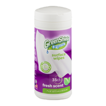 GreenShield Organic Surface Wipes Fresh Scent - 35 CT