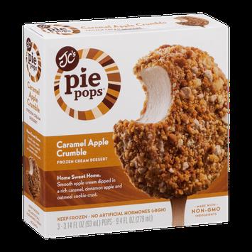JC's Pie Pops Frozen Cream Dessert Caramel Apple Crumble - 3 CT