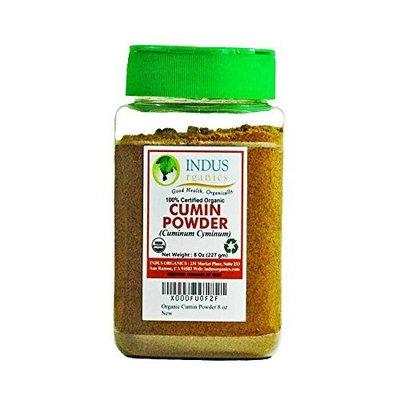 Indus Organics Indus Organic Cumin Seeds Powder Spice 8 Oz Jar, High Purity, Freshly Packed