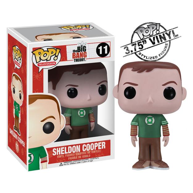 Funko Pop! Big Bang Theory Sheldon Green Lantern Shirt Vinyl Figure
