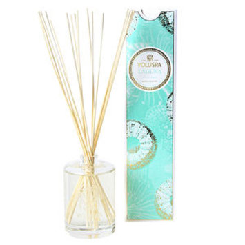 Voluspa Fragrant Oil Embossed Diffuser, Laguna, 6 oz